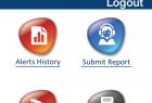 Mobile App Admin Home Screen