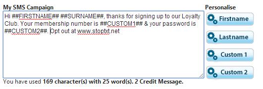 Custom Features in Sendmode's Bulk Text
