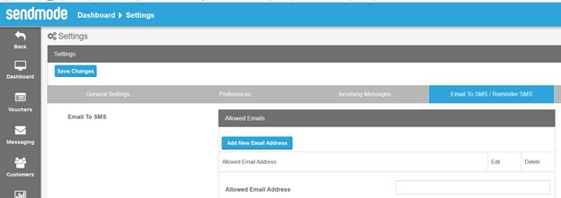 Tutorial-EmailToSMS-dashbaord