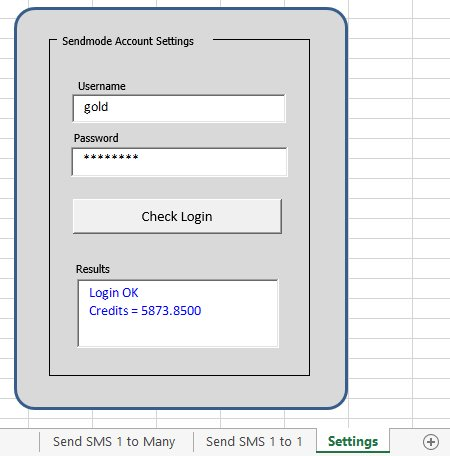 Tutorial2-Settings - Excel2SMS