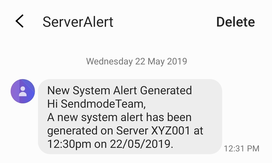 Sendmode Email to SMS Group Text Message Service